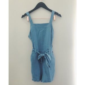 Anthropologie chambray romper size S